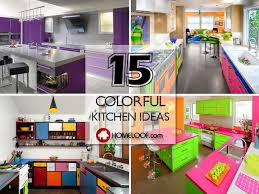 40 Colorful Kitchen Ideas With Vibrant Atmosphere Home Loof Adorable Colorful Kitchen Ideas