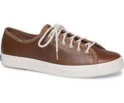 details about keds womens kickstart leather sneakers cognac