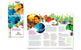 Youth Program Tri Fold Brochure Template Design