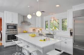 white kitchen design with a quartz countertop