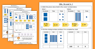 100s 10s 1s 1 Homework Extension Year 3 Place Value