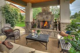 mexican outdoor fireplace chic wicker rocking chair in patio traditional with small outdoor fireplace mexican clay
