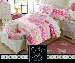 Toddler Bedding Cynthia Rowley 2pc Quilt Set Daisy Day Pink Green