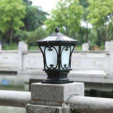 2019 solar led post lanterns outdoor post lights super bright led garden lightings walll lamp warm white cold white color light sensor functions from