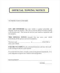 notice of violation template 9 warning notice examples samples parking violation template