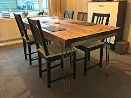 large size of decorations cool diy hairpin dining table 1 finished 2btable diy hairpin legs dining