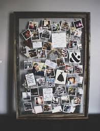 this ever changing photo display idea combines personal photos notes of inspiration and a homemade frame project