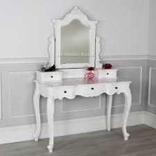 top white makeup desk