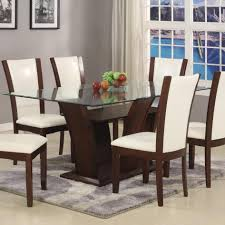 Glass top dining sets Seater Dining Belfort Essentials Camelia White Rectangular Dining Table With Glass Top Belfort Furniture Belfort Essentials Camelia White Rectangular Dining Table With Glass