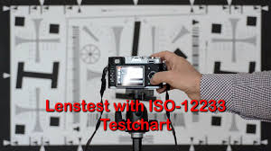 Video Camera Test Chart Lens Test With Iso12233 Testchart Objektivtest Mit Testchart Nach Iso12233
