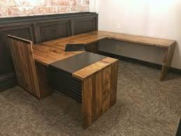 reclaimed wood office furniture. Reclaimed Wood And Steel Office Desk Furniture