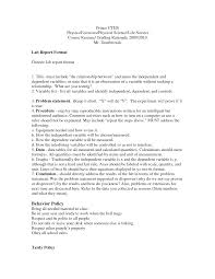 Awesome Chemistry Lab Report Template | Professional Template