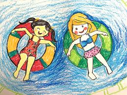 Art For Kids Painting Summer For Kids How To Draw A Swimming Pool Step By