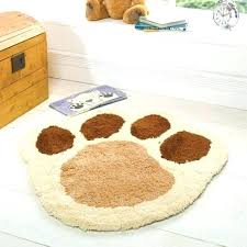 paw print rug area s by