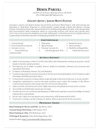 Painter Resume Interesting Sample Resume For Painter Painters Resume Sample Resume For A