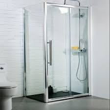1200 x 800mm sliding door shower enclosure with 8mm easy clean glass