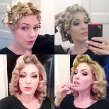 Pin Curl Hair Style for this wet set i was going for more of a lauren becall look i 6190 by stevesalt.us