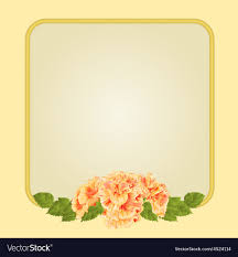 Golden Frame With Yellow Hibiscus Greeting Card Festive Background