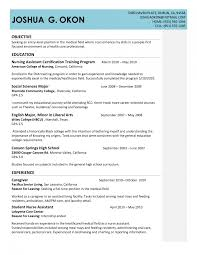 hs resume how to write a resume for high school graduate no cna resume no experience entry level nursing assistant resume how to write a resume no
