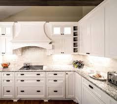 quartz countertop reclaimed wine barrel lights transitional kitchen