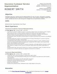 Insurance Representative Resumes Resume For Customer Service Rep Insurance Customer Service
