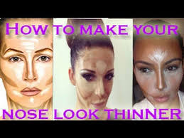 how to make your nose look thinner makeup tips