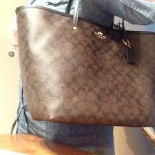 NEW Coach Signature Large Taxi Tote Brown Black