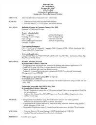 Computer Science Graduate Resume Sample objective experience