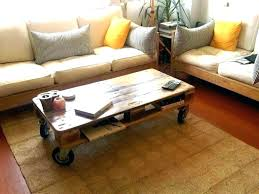 coffee tables with wheels rustic