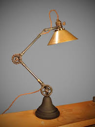 etsy industrial lighting. vintage industrial desk lamp machine age task light cast iron steampunk on etsy lighting m