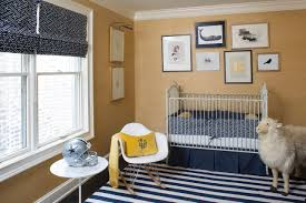 dapper gold nursery with navy blue accents photo page