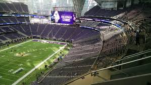 Minnesota Vikings Club Seating At U S Bank Stadium