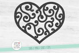 Scroll Heart Heart Svg Swirly Heart Svg Scroll Heart Svg Mothers Day