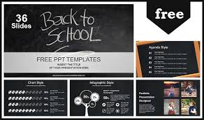 Chalkboard Ppt Theme Back To School Powerpoint Template