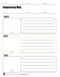 Graphic Organizers Sequence Of Events Chart Free Sequencing Graphic Organizers For Reading Lessons