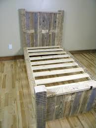 adorable diy wooden pallet bed frame