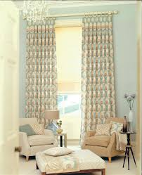 Decorations:Green Stripe Of Clever Curtain Idea For Living Room On Large  Windows Fancy Curtain