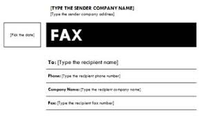 Fall Theme Fax Cover Sheet
