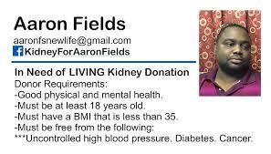 Kidney for Aaron Fields - Home   Facebook