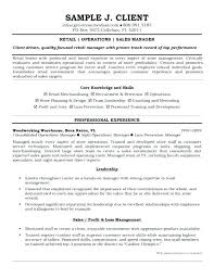 Retail Manager Resume Example Retail Sales Manager Cv Examples Resume Samples Sample Assistant