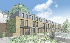 how it could look controversial plans for houses behind park crescent west pictured
