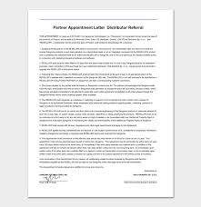 agreement letter for business