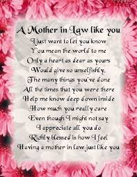 Fridge Magnet Mother In Law Poem Pink Floral Design FREE GIFT Interesting Loving Mother In Law Quotes