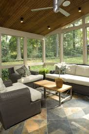 Screened porches can add another element of enjoyment to your home. Include vaulted  ceilings &