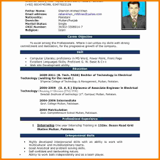 Resume Format Word 24 cv in english word format theorynpractice 10