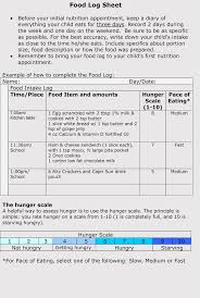 Diary Format Template 6 Food Log Sheet Templates Track Your Diet Pdf Word