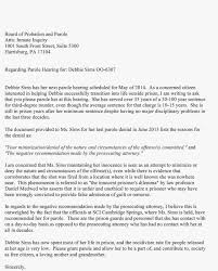 the move sample letter for debbie s parole philadelphia pa 19143 so they can be collected before they are passed on to the board please make sure your letter arrives by 4th