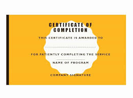 Certificates Printable Printable Certificates Of Completion Fresh 40 Fantastic