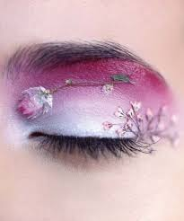 delicate and dainty fl eye shadow art