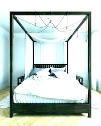 wood canopy bed frame